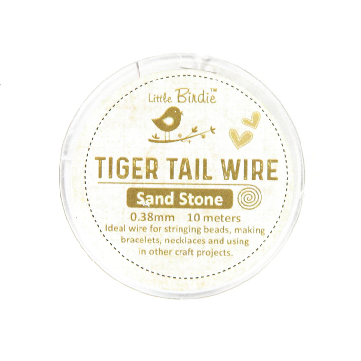 Tiger Tail Wire 0.38 mm- Sand Stone 10mts
