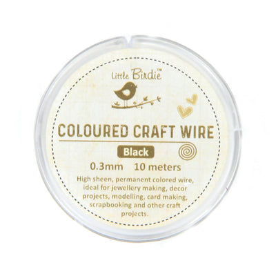 Colored Craft Wire 0.3 mm- Black 10mts
