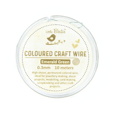 Colored Craft Wire 0.3 mm- Emerald Green 10mts