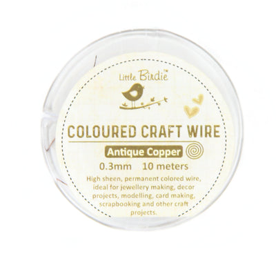 Colored Craft Wire 0.3 mm- Antique Copper 10mts