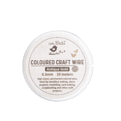Colored Craft Wire 0.3 mm- Antique Gold 10mts