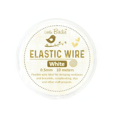 Elastic Wire 0.5 mm- White 10mts