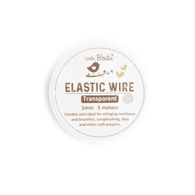 Elastic Wire 1mm- Transparent 5mts