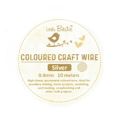 Colored Craft Wire 0.4 mm- Sliver 10mts