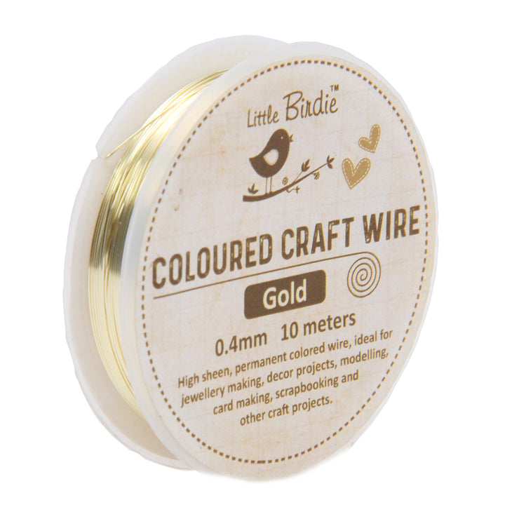 Colored Craft Wire 0.4 mm- Gold 10mts