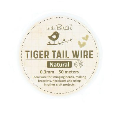 Tiger Tail Wire 0.3 mm- Natural 50mts