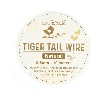 Tiger Tail Wire 0.8 mm- Natural 10mts