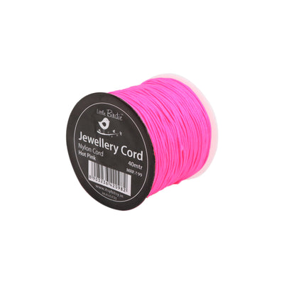 Nylon Cord Hot Pink - 40mtrs, 1Roll