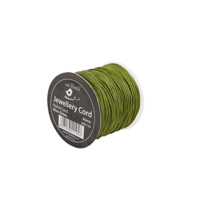 Nylon Cord Moss Green - 40mtrs, 1Roll
