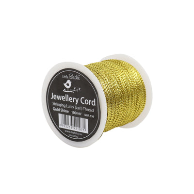Stringing Zari Thread Gold Shine - 100mtrs, 1Roll