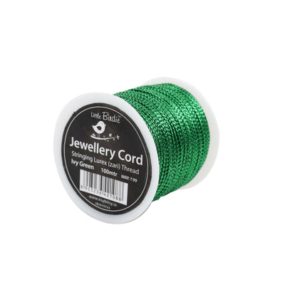 Stringing Zari Thread Ivy Green - 100mtrs, 1Roll