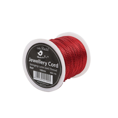 Stringing Zari Thread Red - 100mtrs, 1Roll