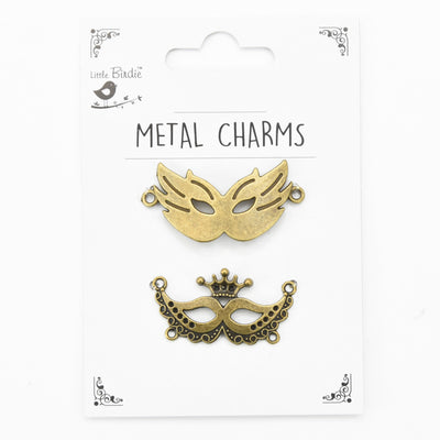 Metal Charms - Masquerade, 2pc
