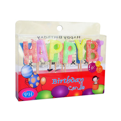 Happy Birthday Alphabet Candles