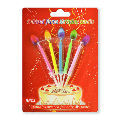 Birthday Candles-  Coloured Flame