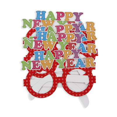 Happy New Year Polka Dot Goggles-Red