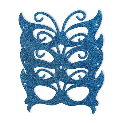 Glitter Eye Mask- Butterfly, Blue