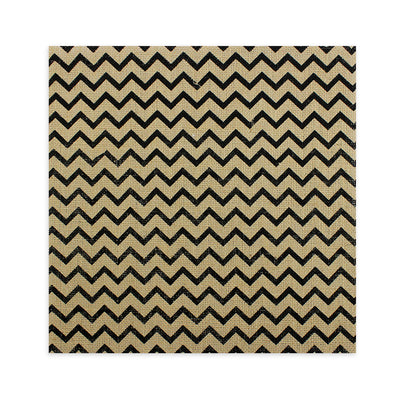 Printed Burlap - Chevron, Natural 12X12inch, 1Sheet
