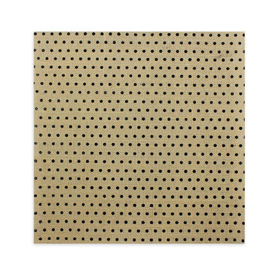 Printed Burlap - Dots, Natural 12X12inch, 1Sheet