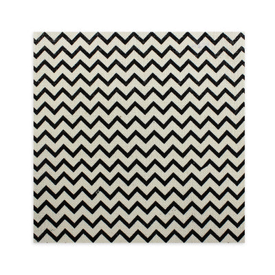 Printed Burlap - Chevron, Cream 12X12inch, 1Sheet
