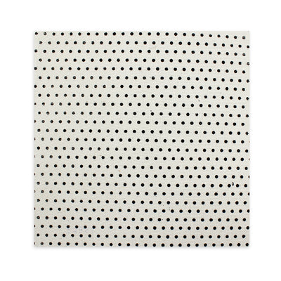 Printed Burlap - Dots, Cream 12X12inch, 1Sheet