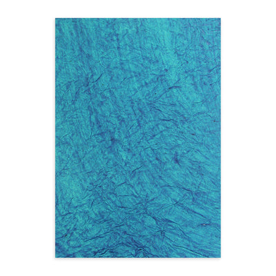 Double Sided Leather Paper A4 - Blue