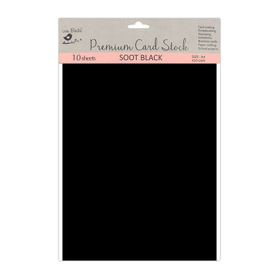 Card Stock - Soot Black  A4 size