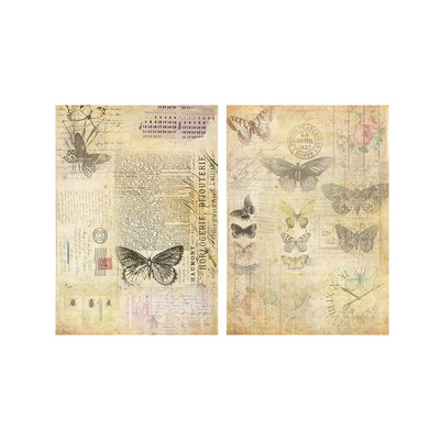 Decoupage Paper A4size, 4sheets - Butterfly Chronicle