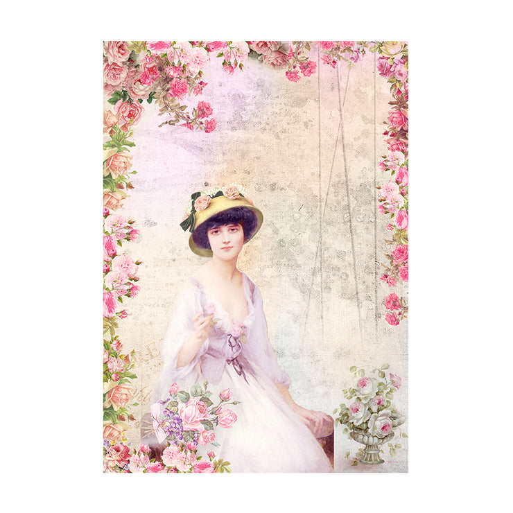 Decoupage Paper A4size, 4sheets - Annabelle