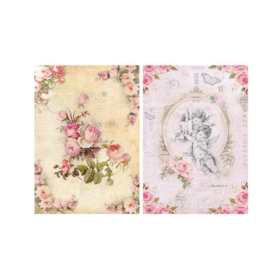Decoupage Paper A4size, 4sheets - Fairy Blossom