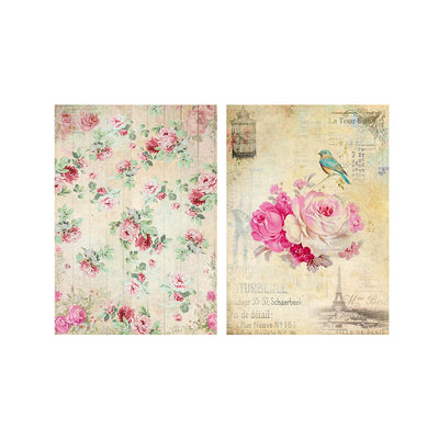 Decoupage Paper A4size, 4sheets - Floral Excellence
