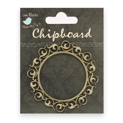 Chipboard Shapes- Ornate Round Frame