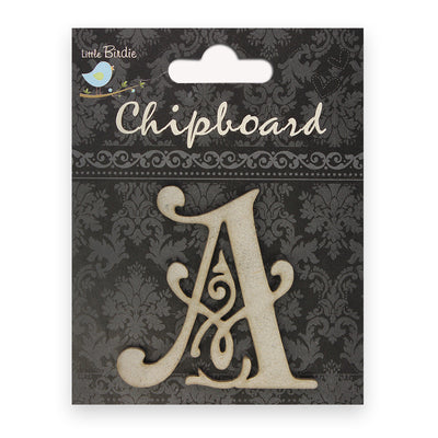 Ornate Chipboard Alphabet- A