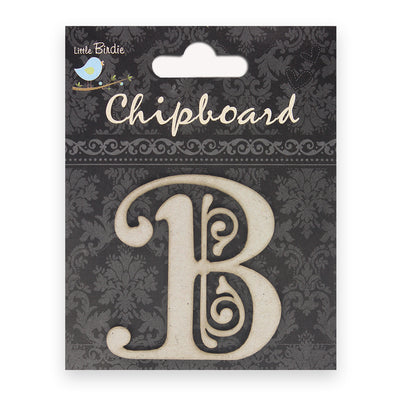 Ornate Chipboard Alphabet- B