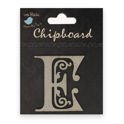 Ornate Chipboard Alphabet- E