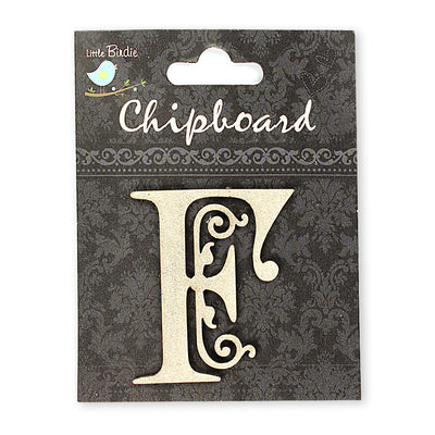 Ornate Chipboard Alphabet- F