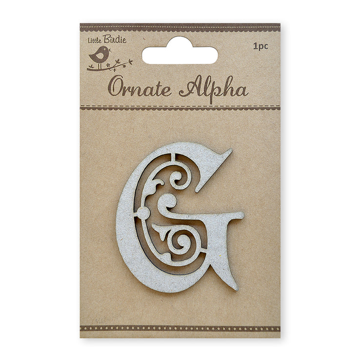 Ornate Chipboard Alphabet- G