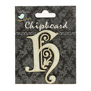 Ornate Chipboard Alphabet- H