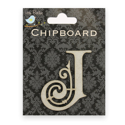 Ornate Chipboard Alphabet- J