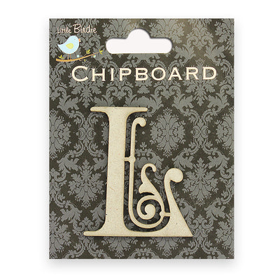 Ornate Chipboard Alphabet- L
