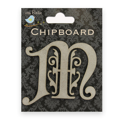 Ornate Chipboard Alphabet- M