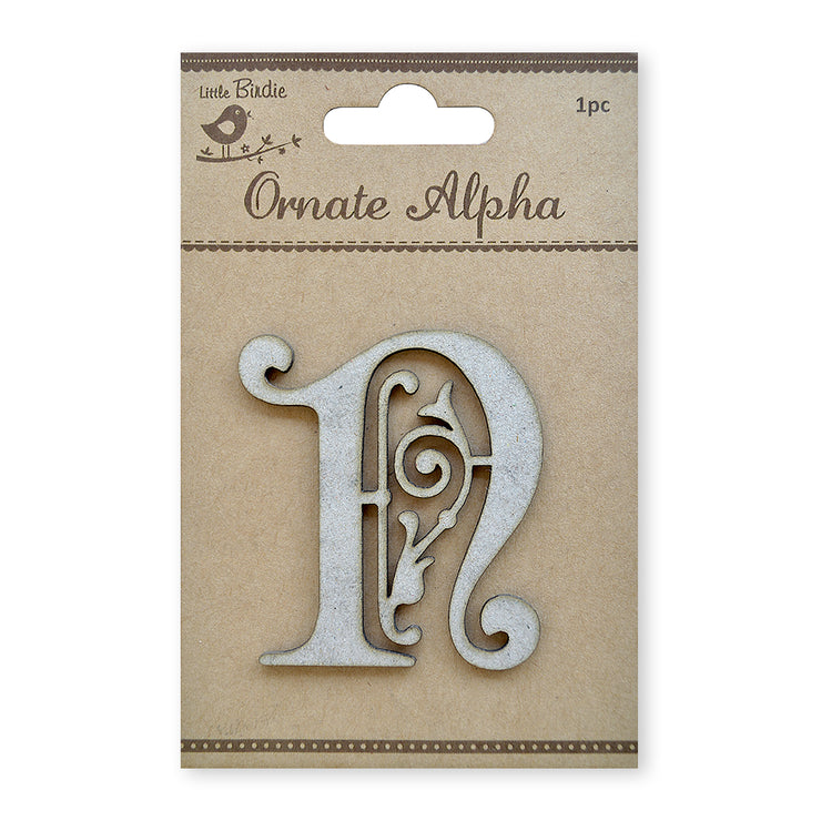 Ornate Chipboard Alphabet- N