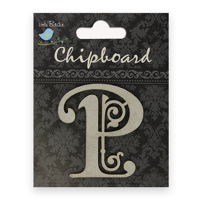 Ornate Chipboard Alphabet- P