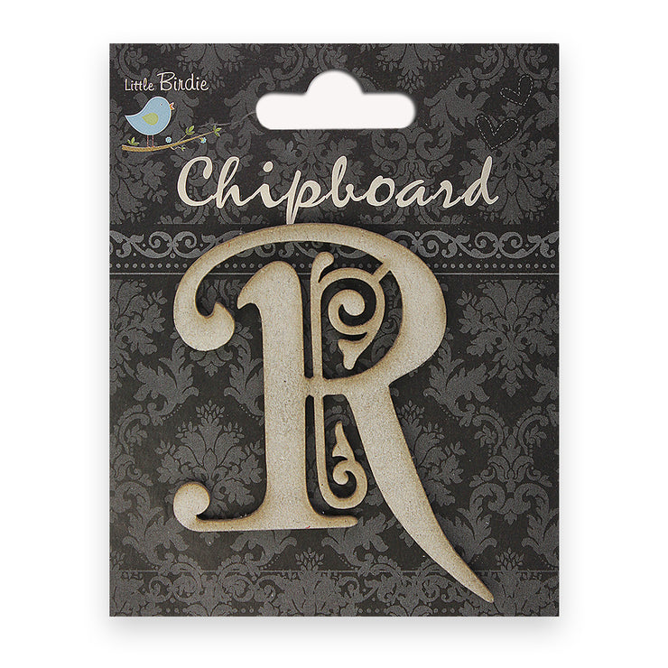 Ornate Chipboard Alphabet- R