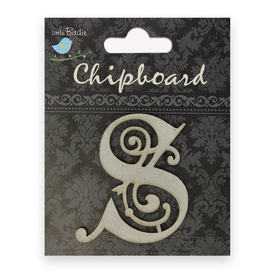 Ornate Chipboard Alphabet- S