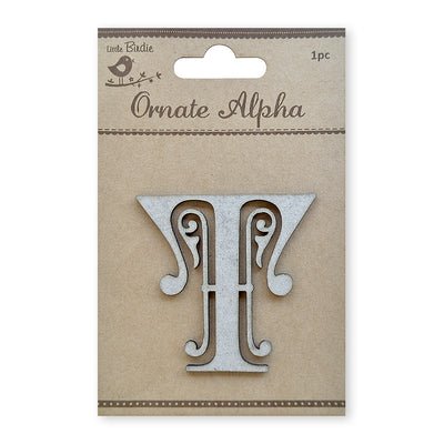 Ornate Chipboard Alphabet- T