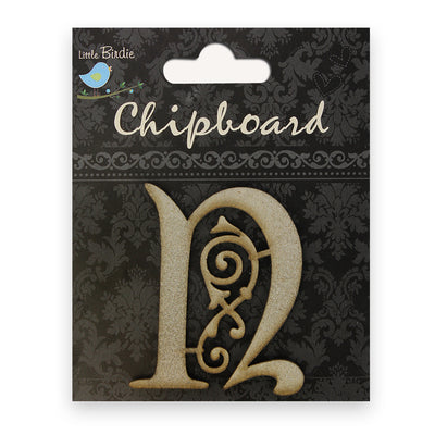 Ornate Chipboard Alphabet- U