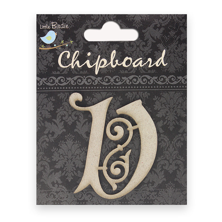 Ornate Chipboard Alphabet- V