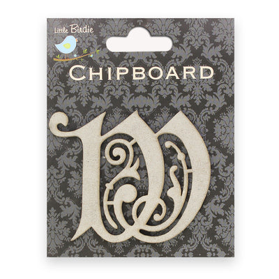 Ornate Chipboard Alphabet- W