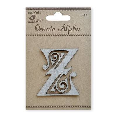 Ornate Chipboard Alphabet- Z